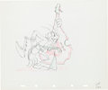 Animation Art:Production Drawing, The Woodland Cafe Grasshopper Production Drawing AnimationArt (Walt Disney, 1937)....