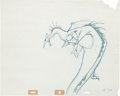 Animation Art:Production Drawing, Sleeping Beauty Dragon Production Drawing (Walt Disney,1959)....
