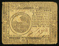 Colonial Notes:Continental Congress Issues, Continental Currency February 26, 1777 $6 Fine.. ...