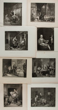 "Books:Prints & Leaves, Group of Eight Print Reproductions of Paintings Depicting People atWork. 9"" x 7.75"" to 11"" x 8.5"". Removed from larger volu..."
