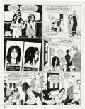 """Original Comic Art:Panel Pages, Jaime Hernandez Love and Rockets #30 """"Ninety-Three MillionMiles From the Sun"""" Page 12 Original Art (Fantagraphics..."""