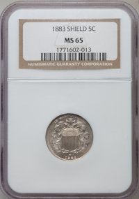 1883 5C MS65 NGC. NGC Census: (270/102). PCGS Population (214/118). Mintage: 1,456,919. Numismedia Wsl. Price for proble...
