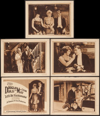 """Let's Be Fashionable (Paramount, 1920). Title Lobby Card & Lobby Cards (4) (11"""" X 14""""). Comedy. ... (T..."""