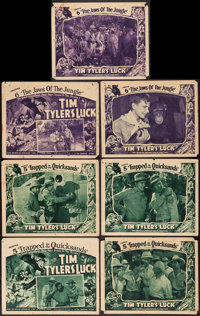 "Tim Tyler's Luck (Universal, 1937). Title Lobby Cards (2) and Lobby Cards (5) (11"" X 14"") Chapter 5 -- ""T..."