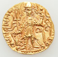 Ancients:Oriental, Ancients: INDIA. Kushan Empire. Vasudeva II (ca. 290-310). AV dinar (7.79 gm)....
