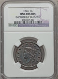 Large Cents, 1824 1C -- Improperly Cleaned -- NGC Details. Unc. N-4, R.2....