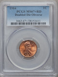 Lincoln Cents, 1984 1C Doubled Die Obverse MS67+ Red PCGS. FS-101....