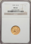 Indian Quarter Eagles: , 1929 $2 1/2 MS62 NGC. NGC Census: (7408/8679). PCGS Population(4154/5417). Mintage: 532,000. Numismedia Wsl. Price for pro...