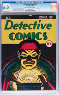 Platinum Age (1897-1937):Miscellaneous, Detective Comics #8 (DC, 1937) CGC FN 6.0 Cream to off-whitepages....