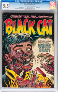 Golden Age (1938-1955):Horror, Black Cat Mystery #50 (Harvey, 1954) CGC FN- 5.5 Off-white to whitepages....