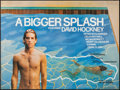 "Movie Posters:Documentary, A Bigger Splash (Buzzy Enterprises, 1974). British Quad (30"" X 40"") & Exhibition Poster (16.5"" X 23.5""). Documentary.. ... (Total: 2 Items)"