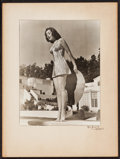 """Movie Posters:Miscellaneous, Ann Rutherford by Allen Burg (1940). Signed Pinup Photo (15"""" X 20""""). Miscellaneous.. ..."""