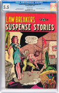 Golden Age (1938-1955):Horror, Lawbreakers Suspense Stories #11 (Charlton, 1953) CGC FN- 5.5Off-white pages....