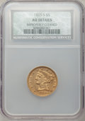 1855-S $5 -- Improperly Cleaned -- NCS. AU Details....(PCGS# 8265)