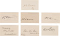 Autographs:U.S. Presidents, [Grover Cleveland]. Group of Seven Signatures of Members of President Grover Cleveland's Cabinet (Second Term).... (Total: 6 Items)