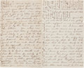 Autographs:Military Figures, [Civil War]. Officer's Autograph Letter...