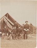 Miscellaneous:Ephemera, [Civil War] and [Irish Brigade]. Robert Nugent and Staff UnmountedAlbumen Photograph....