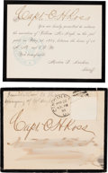 Miscellaneous:Ephemera, Formal Invitation to a Hanging.... (Total: 2 Items)