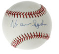 Autographs:Baseballs, Warren Spahn Single Signed Baseball. High-quality blue ink sweetspot signature on an ONL (White) ball from this legendary ...