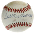 Autographs:Baseballs, Ted Williams Single Signed Baseball. Ted Williams, whose allure during his playing days and beyond was nothing short of spl...