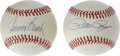 Autographs:Baseballs, Pete Rose and Johnny Bench Single Signed Baseballs Lot of 2. Eachof the two orbs offered here have been single-signed on a...(Total: 2 Items)