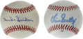 Autographs:Baseballs, Vin Scully and Duke Snider Single Signed Baseballs Lot of 2. Thispair of single signed baseballs is Dodger-centric, each h...(Total: 2 Items)