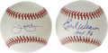Autographs:Baseballs, Baltimore Orioles Hall of Famers Single Signed Baseballs Lot of 2.Each of the OAL (Budig) balls we see here have been sign... (Total:2 Items)