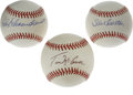 Autographs:Baseballs, St. Louis Cardinals Single Signed Baseballs Lot of 3. Each of thethree baseballs we offer here has been tagged across the ...(Total: 3 Items)