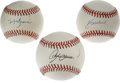 Autographs:Baseballs, Chicago Cubs Stars Single Signed Baseballs Lot of 3. Andre Dawson,Mark Grace, and Kerry Wood each offer a sweet spot singl... (Total:3 Items)