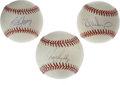 Autographs:Baseballs, Baseball Stars Single Signed Baseballs Lot of 3. Trio of singlesigned baseballs from modern stars of baseball. Included a...(Total: 3 Items)