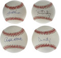 Autographs:Baseballs, New York Yankees Single Signed Baseballs Lot of 4. Thetradition-laden club that is the New York Yankees has had noshorta... (Total: 4 Items)