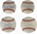 Autographs:Baseballs, Hall of Fame Pitchers Single Signed Baseballs Lot of 4. Yet anotherquartet of sweet singles featuring HOF pitchers. Each ... (Total: 4Items)