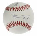 Autographs:Baseballs, Duke Snider and Willie Mays Dual-Signed Baseball. Two-thirds of thelegendary New York centerfielder trio, the OAL (Brown) ...