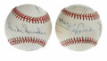Autographs:Baseballs, Brooklyn/Los Angeles Dodgers Greats Multi-Signed Baseballs Lot of2. Each of the orbs here has been adorned by key Bums in ...(Total: 2 Items)