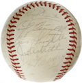 Autographs:Baseballs, 1952 All-Star Game Signed Baseball. The leather of the ONL (Feeney)baseball has been adorned by twenty-two All-Star signat...
