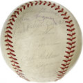 Autographs:Baseballs, 1961 AL All-Star Team Signed Baseball. Thirty-plus signaturesappear on an OAL (Cronin) baseball, coming from the AL All-St...