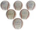 Autographs:Baseballs, 1987-88 San Francisco Giants Team-Signed Baseballs Lot of 6. Greatselection of team-signed orbs courtesy of the San Franci... (Total:6 Items)