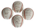 Autographs:Baseballs, 1998-99 San Francisco Giants Team-Signed Baseballs Lot of 4. Twoballs each from the 1998 and 1999 San Francisco Giants squ...(Total: 4 Items)