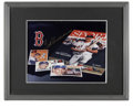 """Autographs:Photos, Ted Williams Signed Photograph. Full color 8x10"""" color photocaptures an attractive display of Ted Williams mementos, inclu..."""