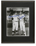 Autographs:Photos, Mickey Mantle and Stan Musial Dual-Signed Photograph. These twocontemporary sluggers have been photographed together, and ...