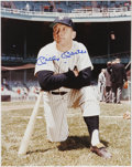 "Autographs:Photos, Mickey Mantle and Willie Mays Signed Photographs Lot of 2. Two massive 11x14"" photographs, one with a perfect blue sharpie s..."