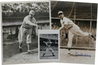 Vintage Baseball Stars Signed Photographs Lot of 5. Five black and white photos offered here each have as their focus a...