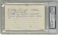 Autographs:Index Cards, Hilton Smith Signed Index Card PSA Authentic. The Negro League starHilton Smith had the misfortune of being a teammate of ...