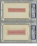 Autographs:Others, Gordon S. Cochrane Cut Signatures Lot of 2 PSA Authentic. Each ofthe two signatures here from Mickey Cochrane have been cl...(Total: 2 items)