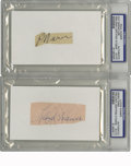 Autographs:Cut-outs, Paul and Lloyd Waner Cut-Signatures PSA DNA/GAI ...