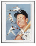 Baseball Collectibles:Others, Mickey Mantle Signed Lithograph. The amazing pinstripe legendMickey Mantle is featured here in the art of Rudy Garcia. Li...