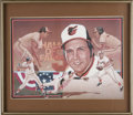 Baseball Collectibles:Others, Brooks Robinson Signed Lithograph. The art of R. Adair has beenused to create this rather impressive lithograph which depi...