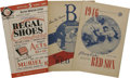 Autographs:Others, 1939-68 Boston Red Sox Programs/Scorecards Lot of 13, 9 Signed.Here we offer an assorted cluster of official programs and ...(Total: 13 Items)