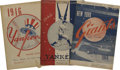 Autographs:Photos, 1942-51 Signed New York Baseball Programs Lot of 6, 2 Unsigned.From the baseball teams of New York, we offer this collecti...(Total: 8 Items)