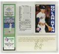 Autographs:Others, Nolan Ryan Signed No-Hitter No. 7 Display With Game Ticket. In 1991the HOF fireballer Nolan Ryan registered his record sev...